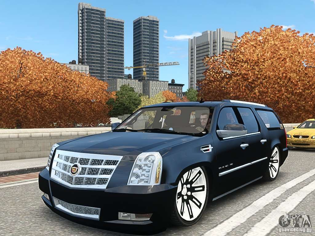 cadillac escalade esv 2012 dub for gta 4. Black Bedroom Furniture Sets. Home Design Ideas
