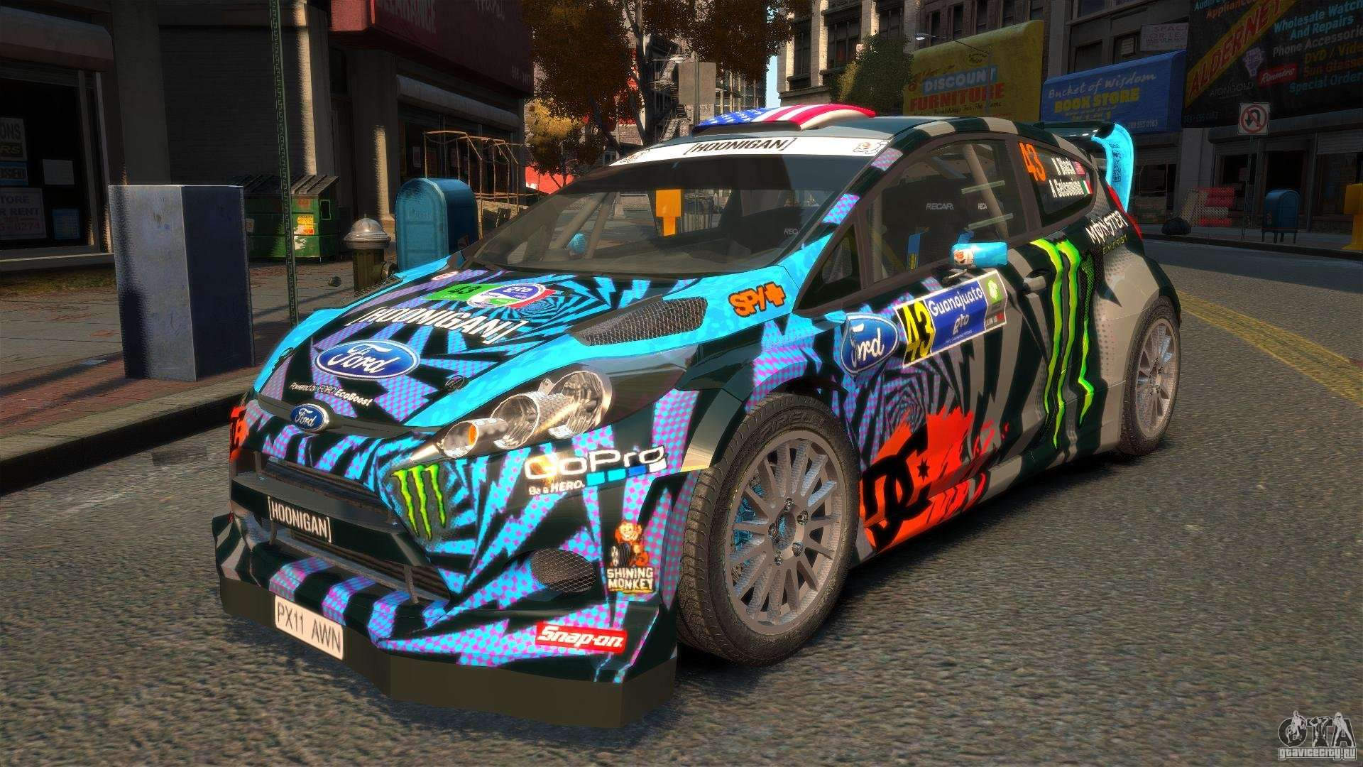 Ford Fiesta Rallycross Ken Block Hoonigan 2013 For Gta 4