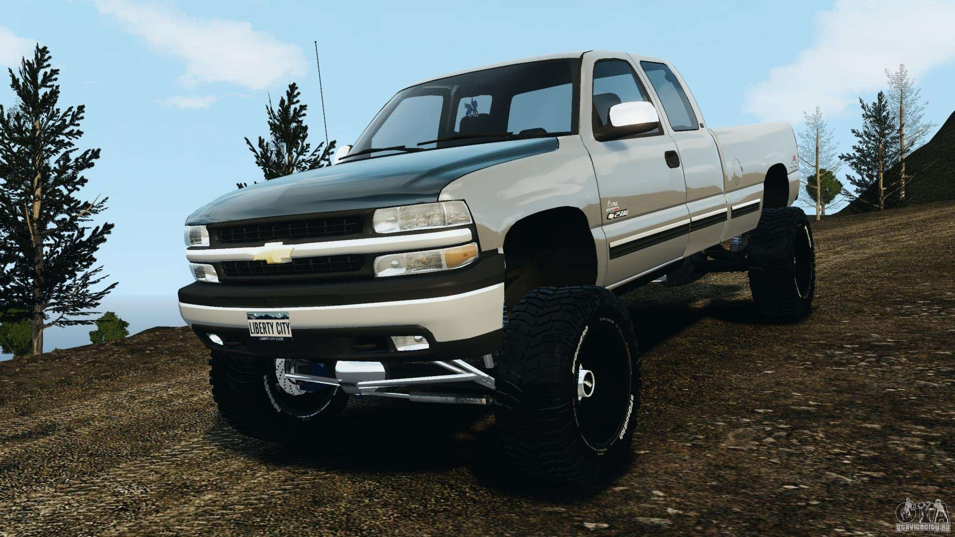 chevrolet silverado 2500 lifted edition 2000 for gta 4. Black Bedroom Furniture Sets. Home Design Ideas