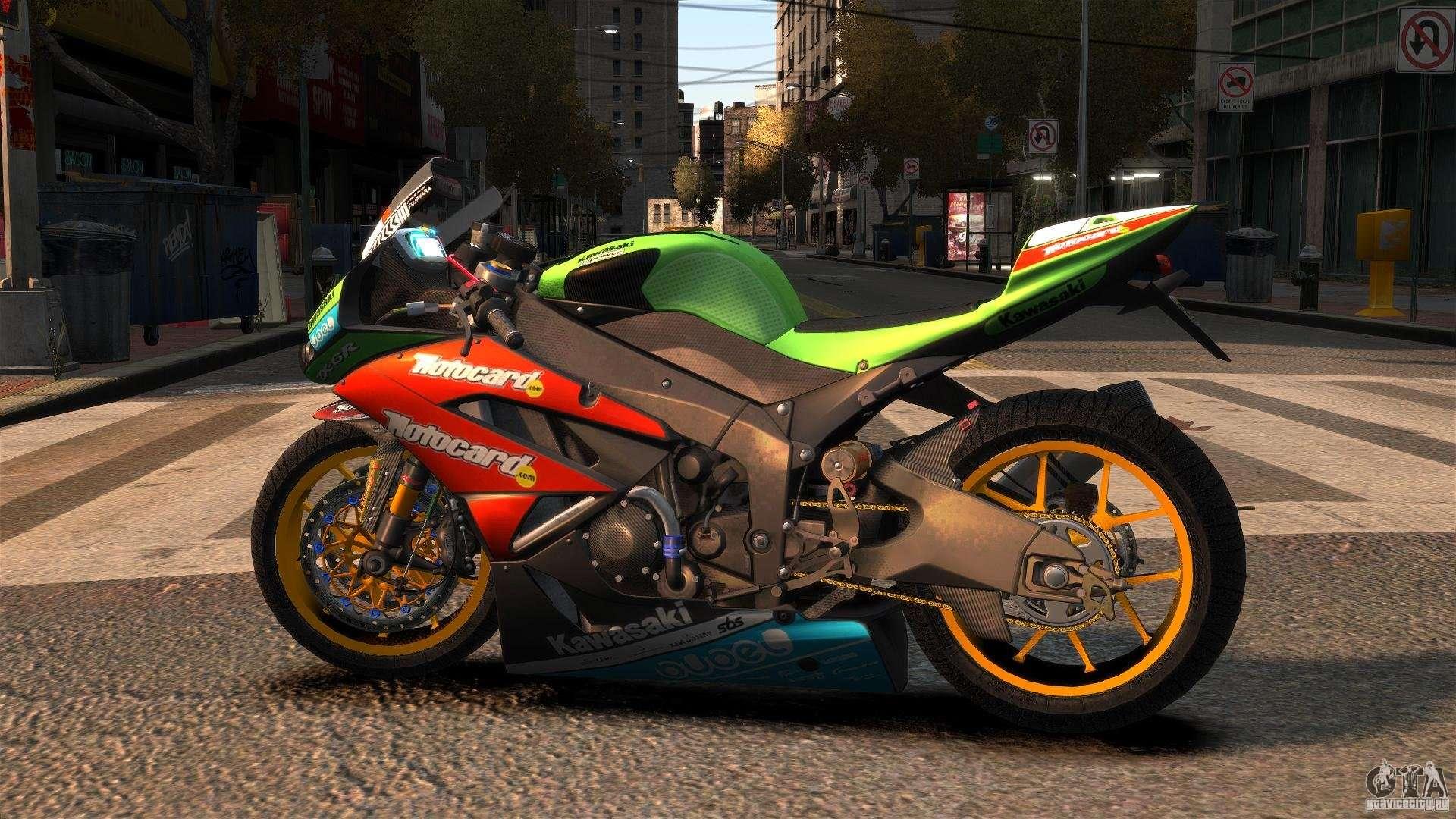 Kawasaki Ninja ZX 6R For GTA 4