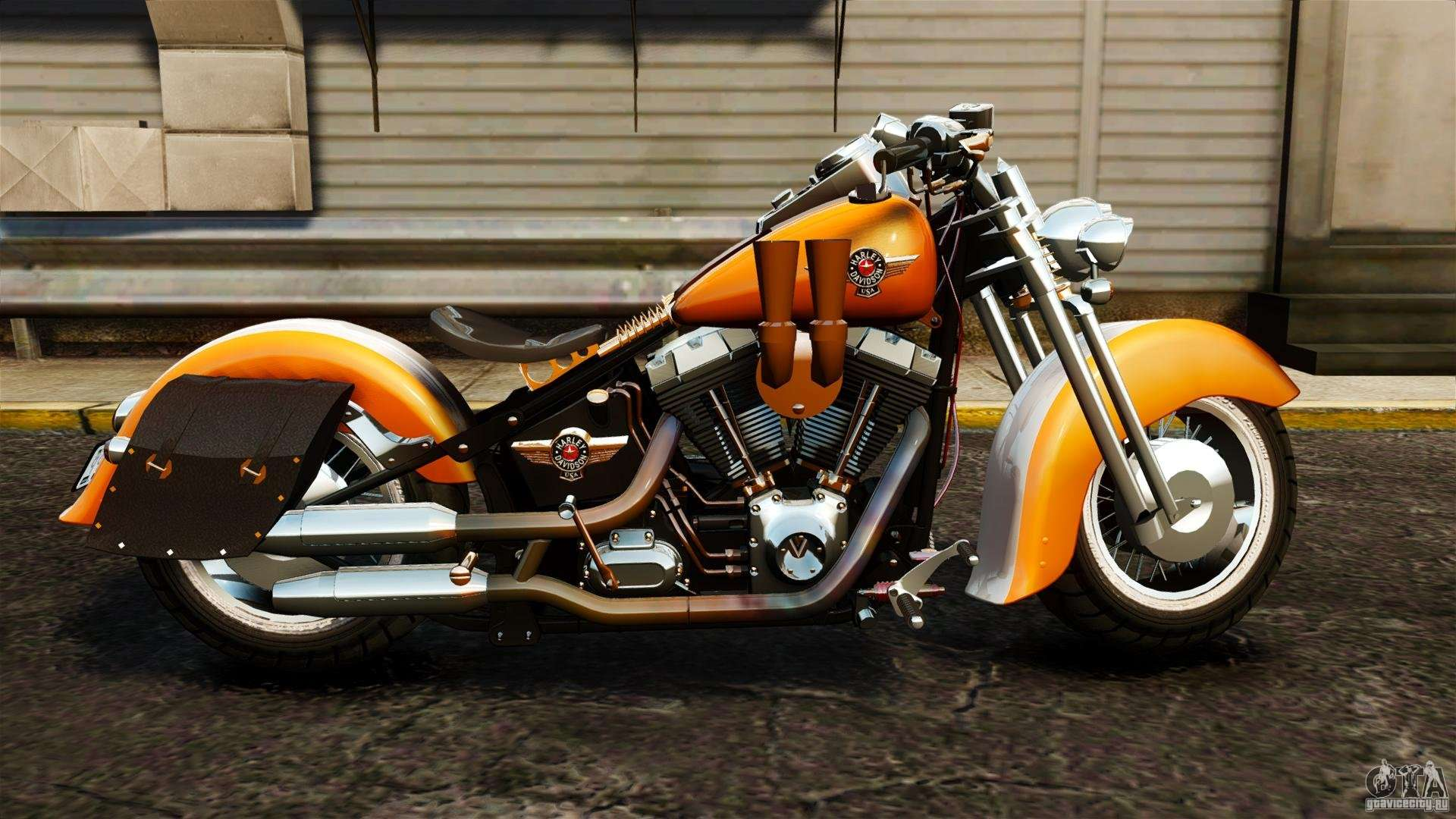harley davidson fat boy lo vintage for gta 4. Black Bedroom Furniture Sets. Home Design Ideas