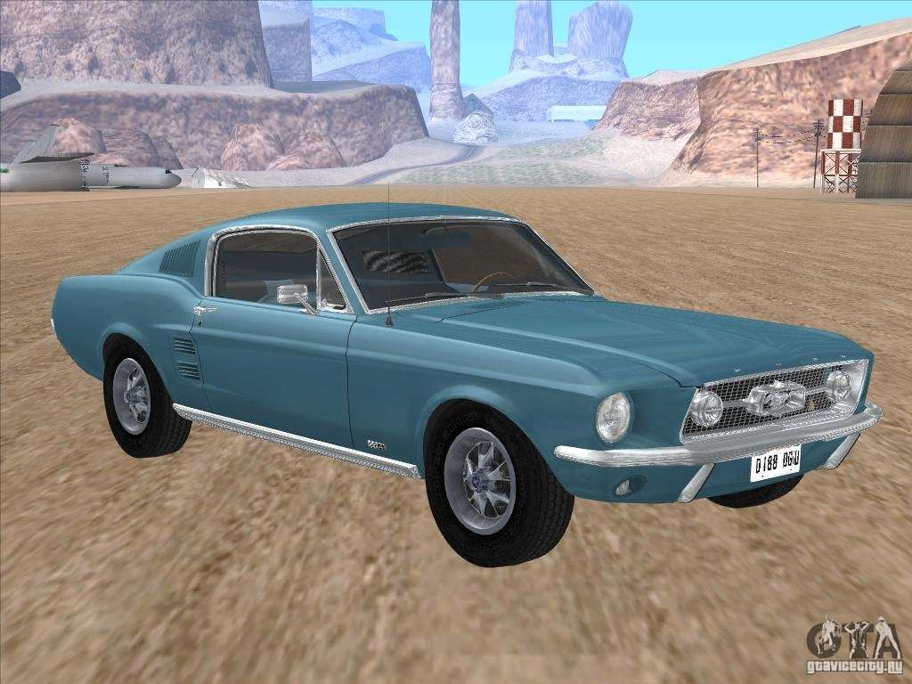 ford mustang fastback 1967 for gta san andreas. Black Bedroom Furniture Sets. Home Design Ideas