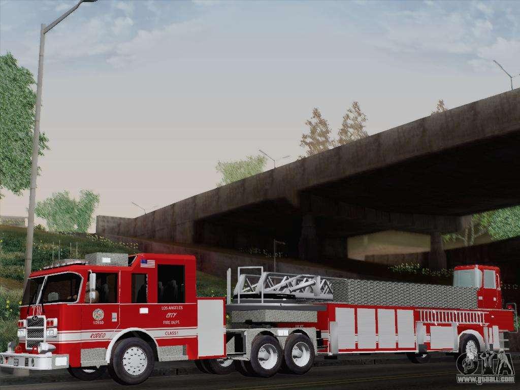 Pierce Arrow Xt Lafd Tiller Ladder Truck 10 For Gta San
