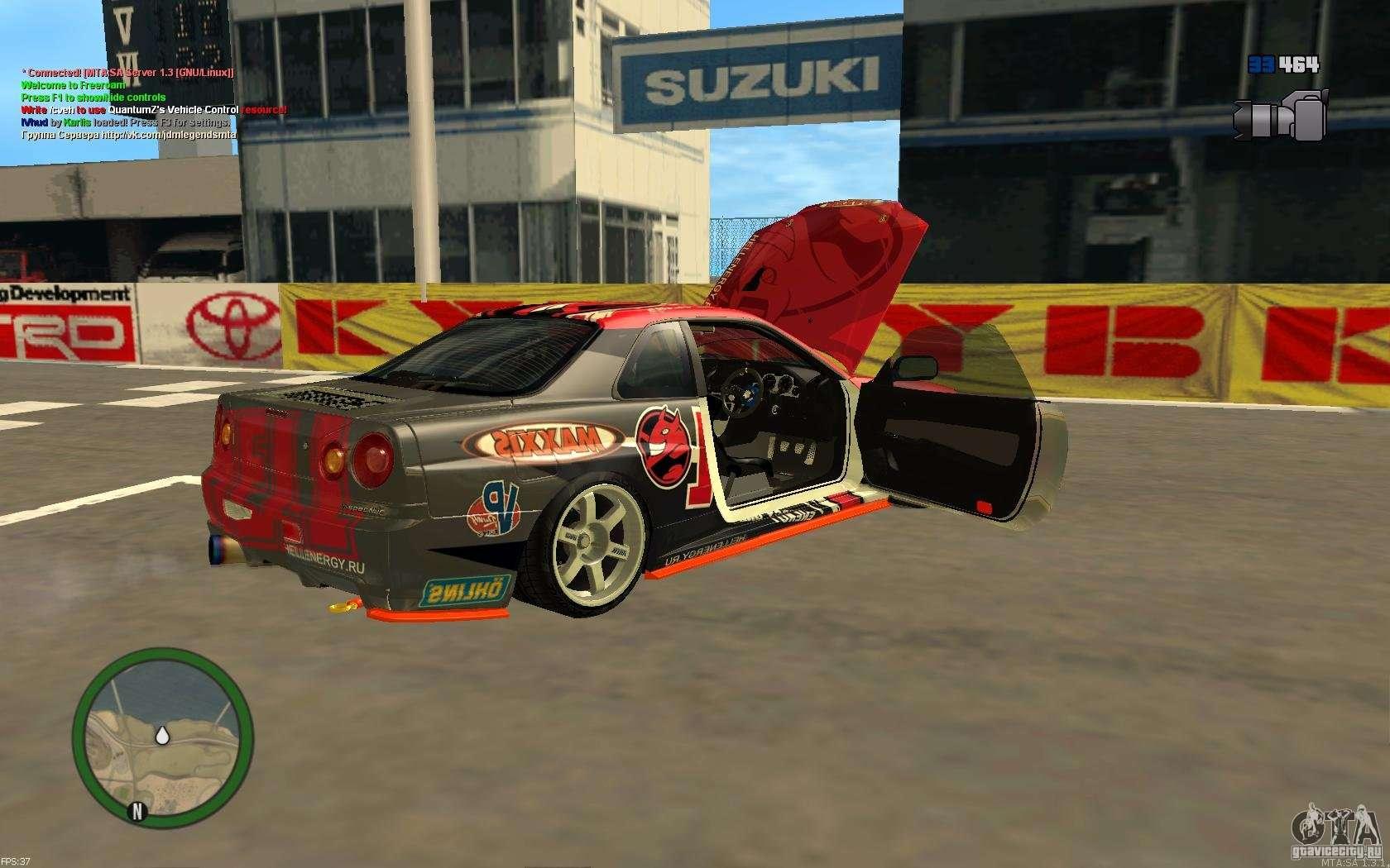 Nissan Skyline R34 Hell Energy for GTA San Andreas
