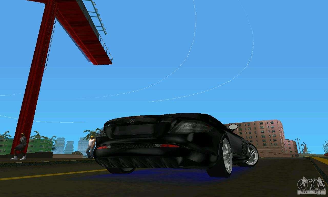 mercedesbenz slr mclaren 722 black revel for gta vice city