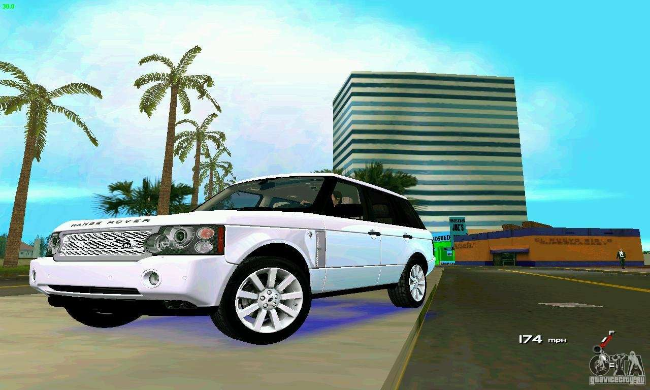 land rover range rover supercharged 2008 for gta vice city. Black Bedroom Furniture Sets. Home Design Ideas