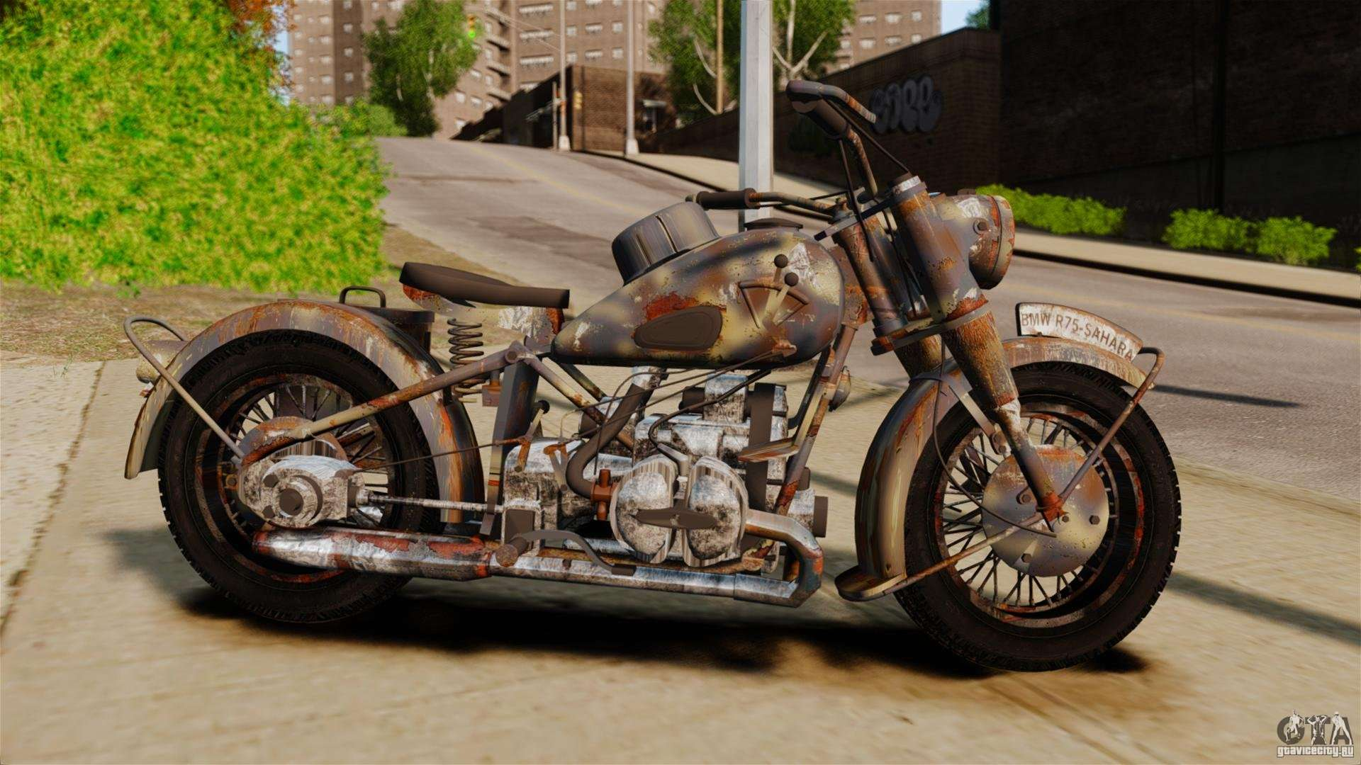 bmw r75 sahara for gta 4. Black Bedroom Furniture Sets. Home Design Ideas