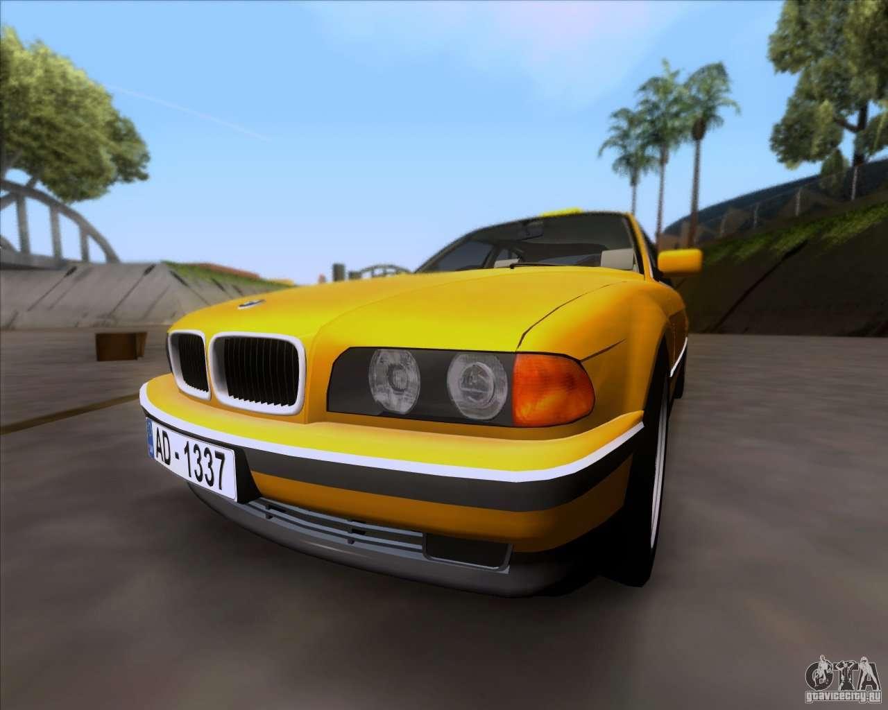 BMW 730i E38 1996 Taxi For GTA San Andreas