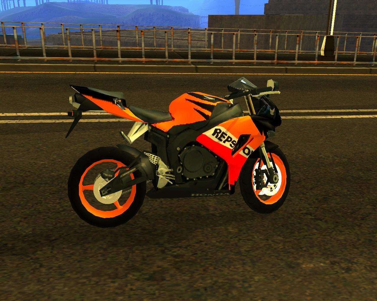 HONDA CBR 1000RR Repsol For GTA San Andreas Back Left View