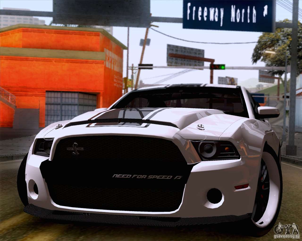 Ford shelby gt500 super snake for gta san andreas back left view