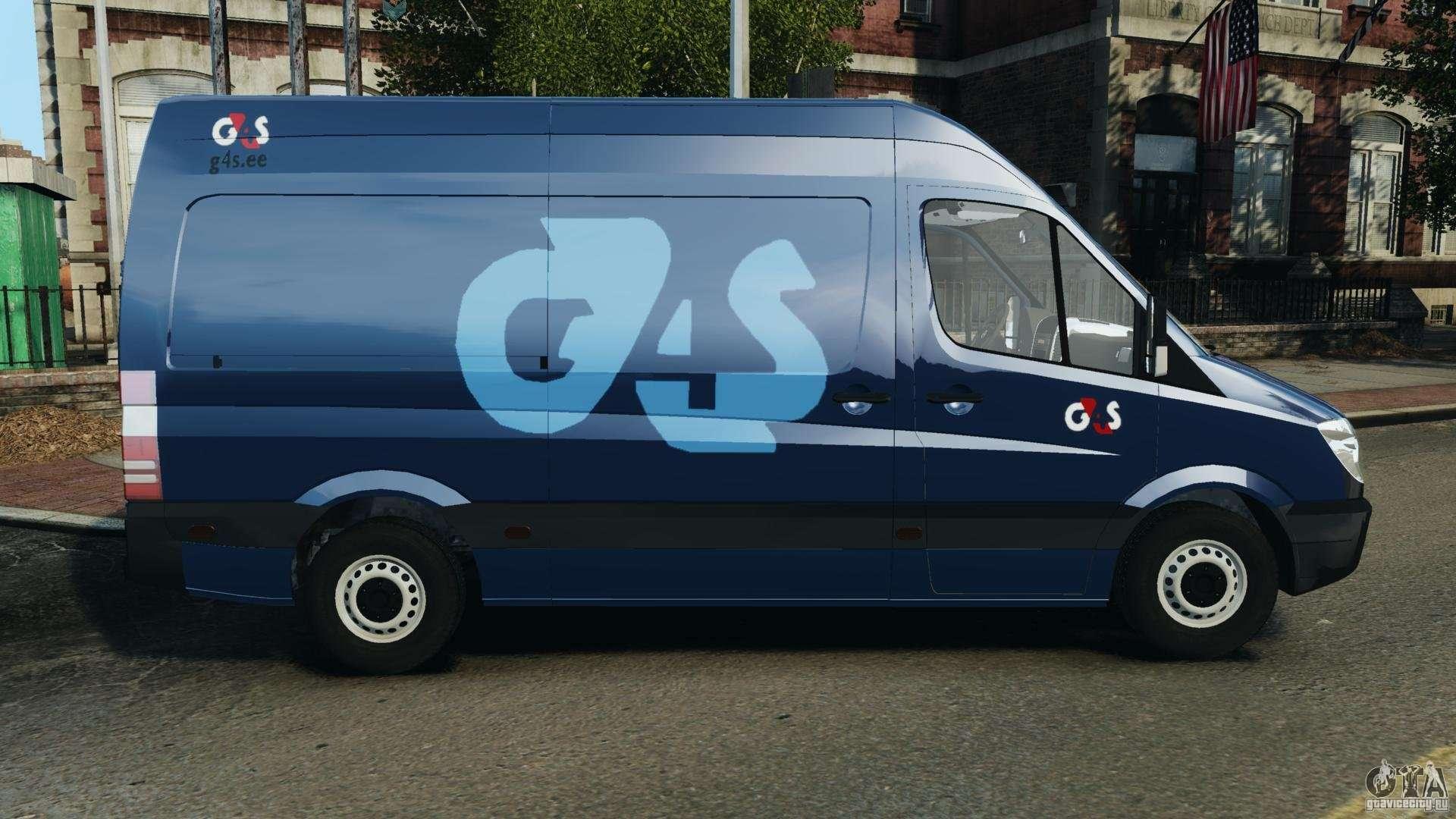 mercedes benz sprinter g4s es cash transporter for gta 4. Black Bedroom Furniture Sets. Home Design Ideas