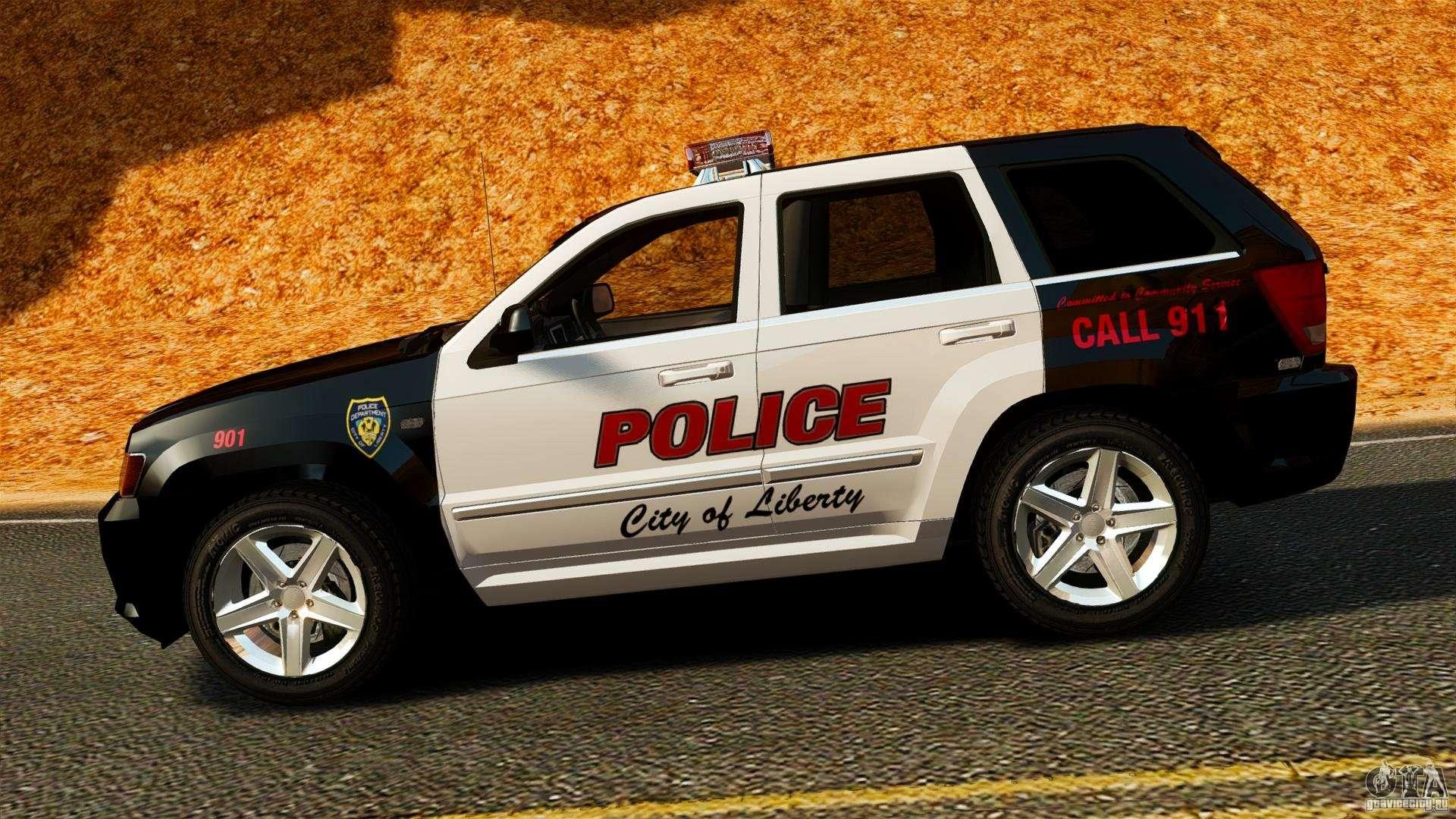 jeep grand cherokee srt8 2008 police els for gta 4. Black Bedroom Furniture Sets. Home Design Ideas