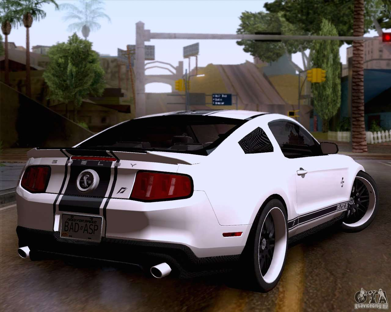 Ford shelby gt500 super snake for gta san andreas left view