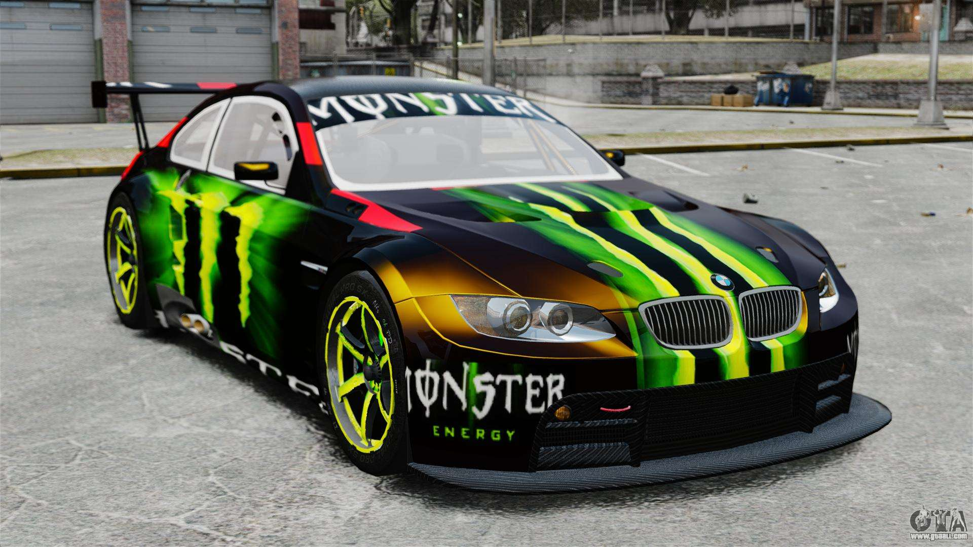 bmw m3 e90 2008 monster energy v1 2 for gta 4. Black Bedroom Furniture Sets. Home Design Ideas