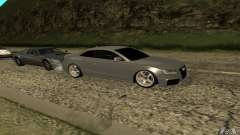 Audi RS5 silver for GTA San Andreas