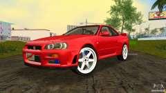 Nissan Skyline GTR R34 for GTA Vice City