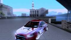 Mitsubishi Lancer Evolution X v2 Make Stance for GTA San Andreas