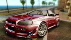 Nissan R34 Skyline GT-R for GTA San Andreas