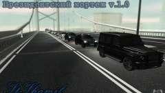 The presidential motorcade v. 1.2 for GTA San Andreas