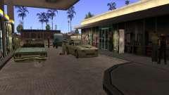 Busy gas station in Los Santos for GTA San Andreas