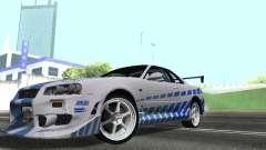 Nissan Skyline GT-R R34 for GTA San Andreas