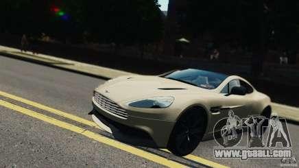 Aston Martin Vanquish 2013 белый for GTA 4