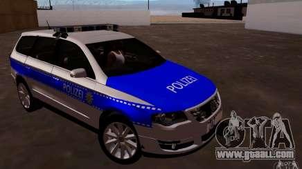 Volkswagen Passat B6 Variant Polizei for GTA San Andreas