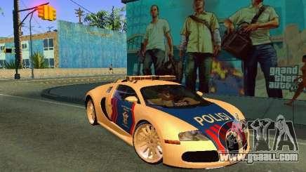 Bugatti Veyron Indonesian Police for GTA San Andreas