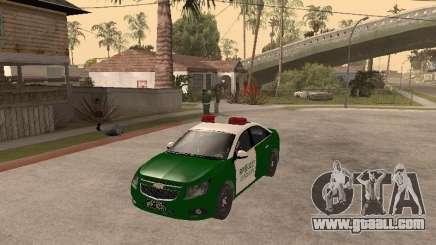 Chevrolet Cruze Carabineros Police for GTA San Andreas