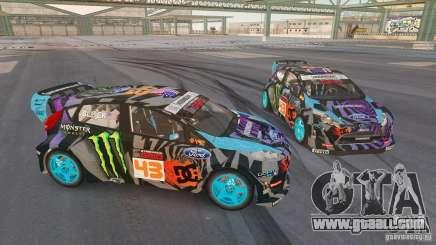 Ford Fiesta Gymkhana - Ken Block (Hoonigan) 2013 for GTA 4