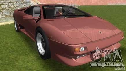 Lamborghini Diablo VTTT Black Revel for GTA Vice City