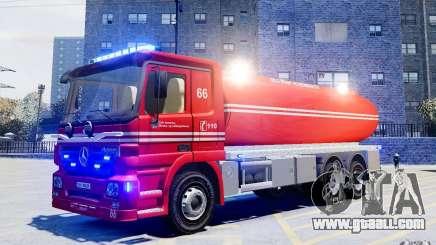 Mercedes-Benz Vanntankbil / Water Tanker for GTA 4