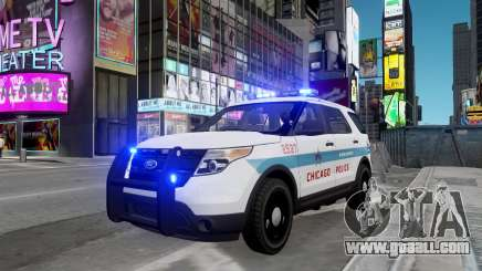 Ford Explorer Chicago Police 2013 for GTA 4