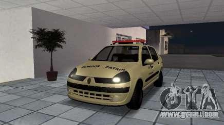 Renault Clio Symbol Police for GTA San Andreas