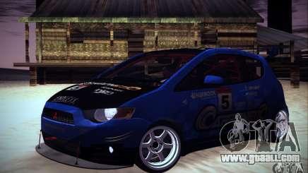Mitsubishi Colt Rallyart Carbon 2010 for GTA San Andreas