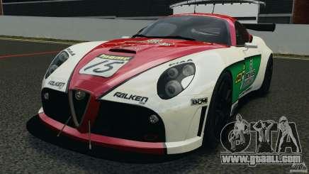 Alfa Romeo 8C Competizione Body Kit 1 белый for GTA 4