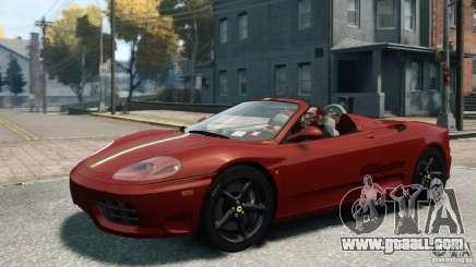 Ferrari 360 Spider 2000 for GTA 4