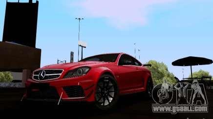 Mercedes-Benz C63 AMG 2012 Black Series for GTA San Andreas