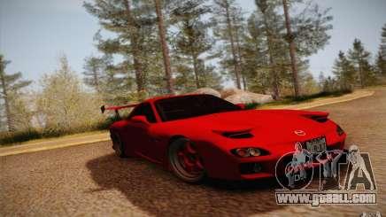 Mazda RX7 Hellalush V.2 for GTA San Andreas