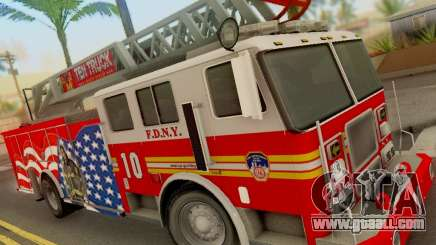 Seagrave FDNY Ladder 10 for GTA San Andreas