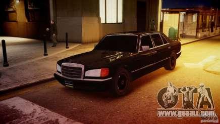 Mercedes-Benz 560 SEL Black Edition for GTA 4