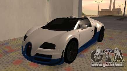 Bugatti Veyron Grand Sport Vitesse for GTA San Andreas