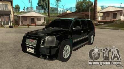 GMC Yukon Unmarked FBI for GTA San Andreas