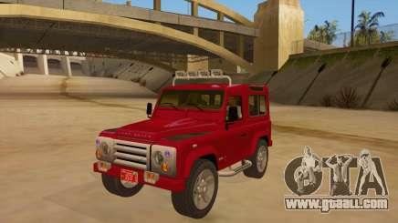 Land Rover Defender for GTA San Andreas