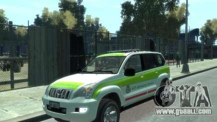 Toyota Land Cruiser Prado Police for GTA 4