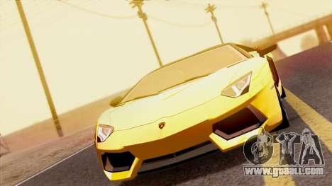 Lamborghini Aventador LP760-2 2013 for GTA San Andreas right view