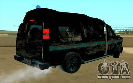 GMC Savana AWD FSB for GTA San Andreas inner view