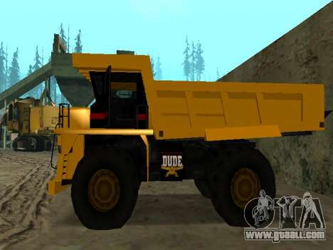 New Dumper for GTA San Andreas back view