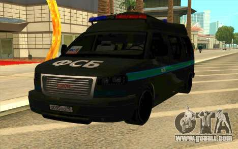 GMC Savana AWD FSB for GTA San Andreas back left view