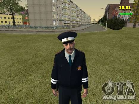 RUSSIAN TRAFFIC POLICE Officer for GTA San Andreas